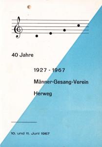Festschrift 40 Jahre MGV